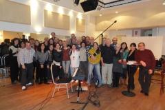 En estudio de grabacion preparando el CD Cartas de Abril 01