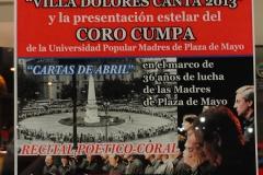 Afiche Villa Dolores -Octubre de 2013